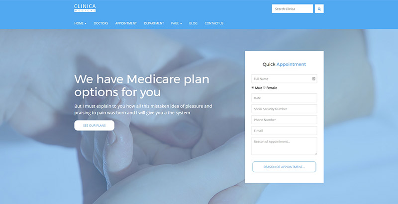 Clinicathemes wordpress creer site web hopital clinique centre sante