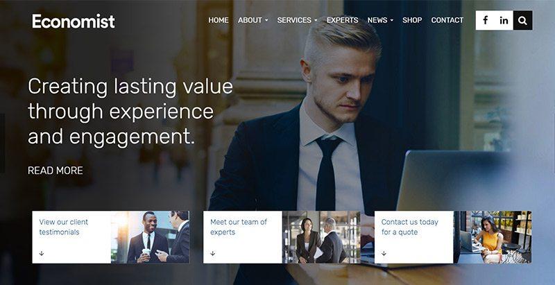 créer un site web d'entreprise - Economist themes wordpress creer site web entreprise couture finance creative