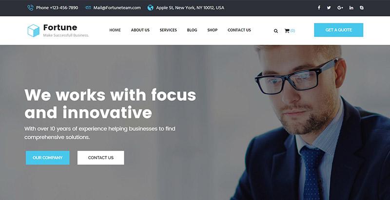 Fortune themes wordpress creer site web coach sante vie developpement personnel entreprise