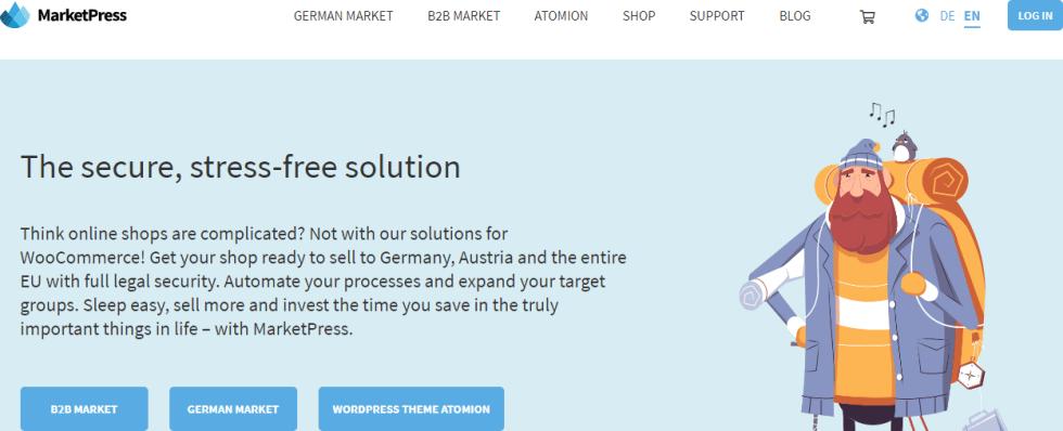 Marketpress plugin wordpress pour e commerce