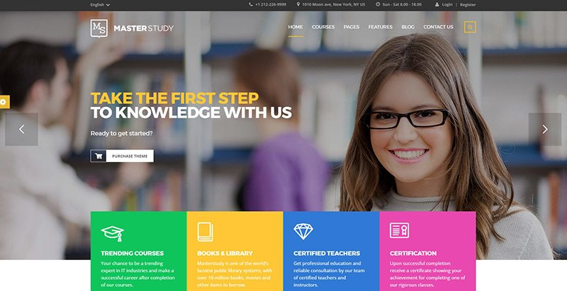 Masterstudy themes wordpress creer site apprentissage en ligne lms formation elearning