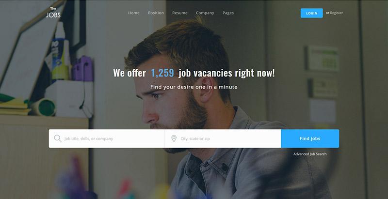 Thejobs - meilleurs thèmes WordPress d'annonces pour créer un portail Web