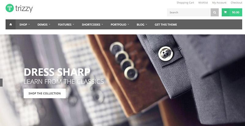 Trizzy themes wordpress creer boutique en ligne vetements bijoux chaussures mode