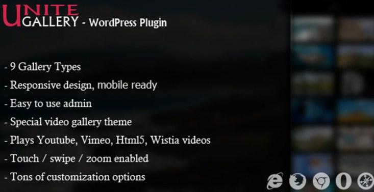 Unite gallery plugins wordpress ajouter galerie portfolio site web blog