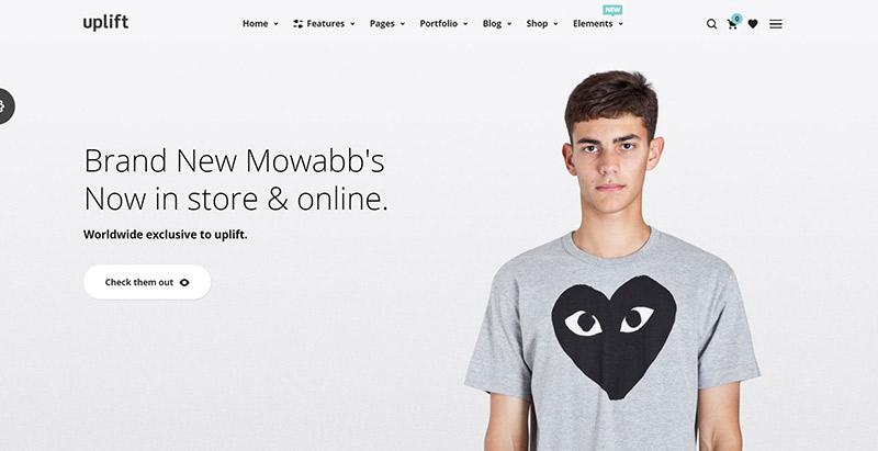 Temas Uplift wordpress criar loja online roupas joias sapatos da moda