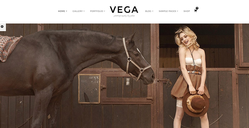Vega themes wordpress creer site web photographe peintre photojournaliste portfolio
