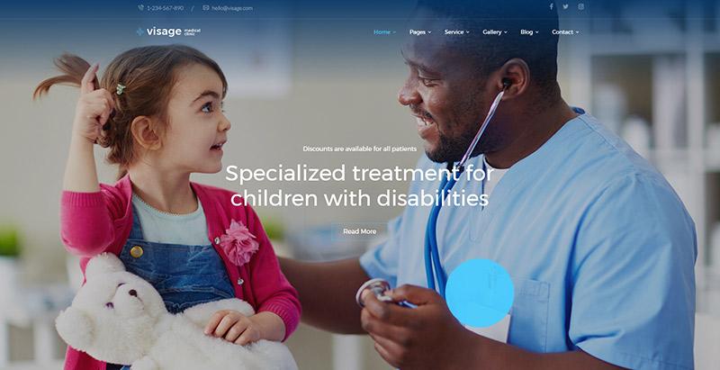 Visagethemes wordpress creer site web hopital clinique centre sante