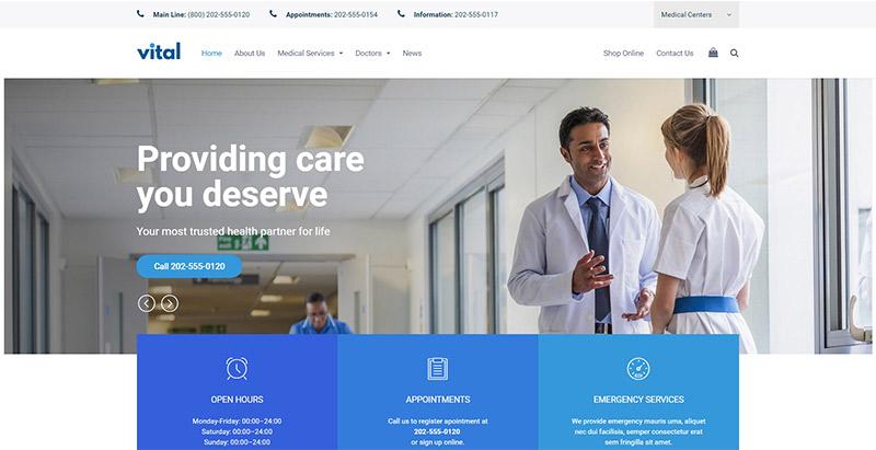 créer un site web de médecin - Vital