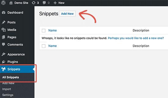 Ajouter un extrait de code personnalisé sur wordpress