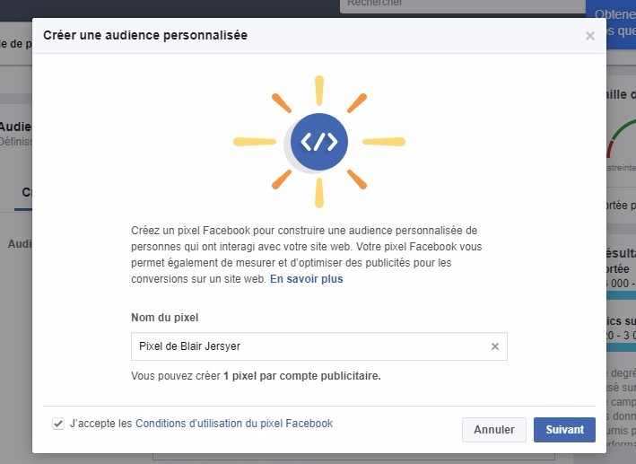 Creer une annonce facebook