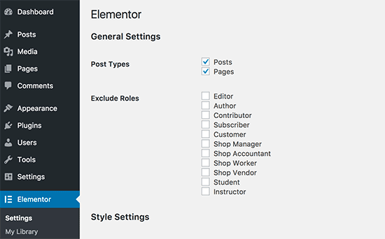 Elementorsettings