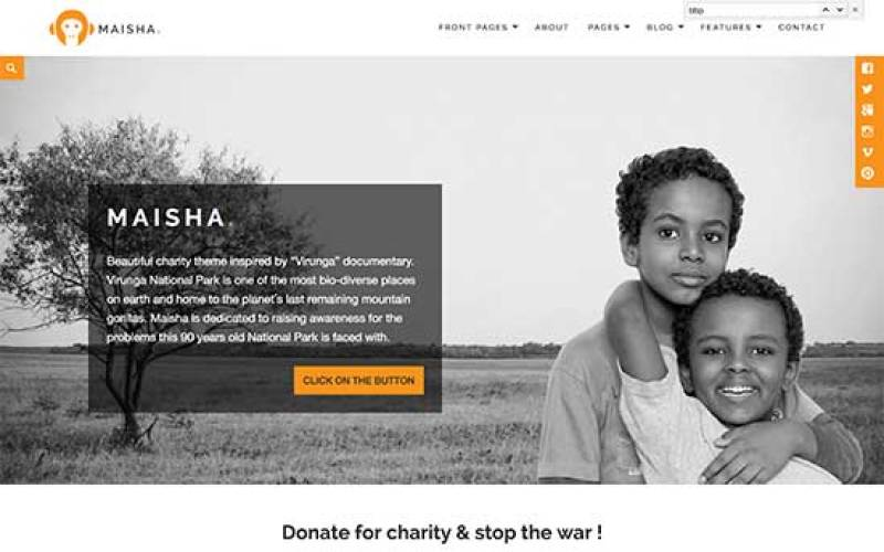 thèmes WordPress pour créer un site web d'ONG - Maisha