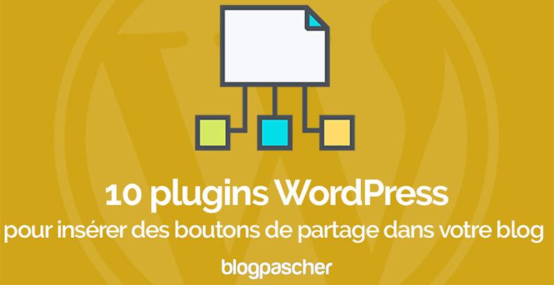Plugins Wordpress Inserer Boutons Partage Social Blog Site Web
