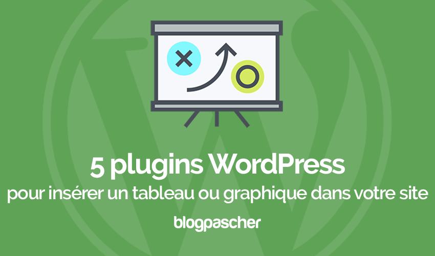 Plugins Wordpress Inserer Tableaux Graphiques Site Blog Formulaire