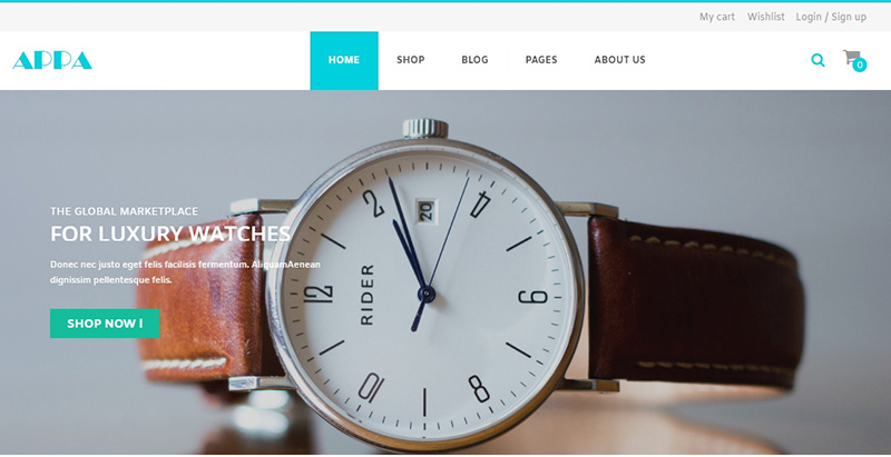 APPA themes wordpress creer site web ecommerce woocommerce vente en ligne