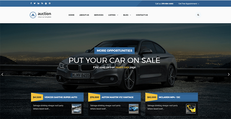 Auction themes wordpress creer site web vente encheres ecommerce