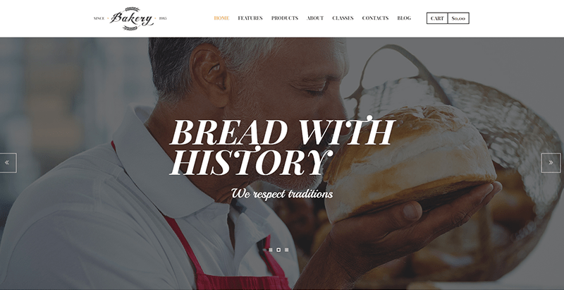 Bakery themes wordpress creer site web pizzeria restaurant boulangerie vendre pizza