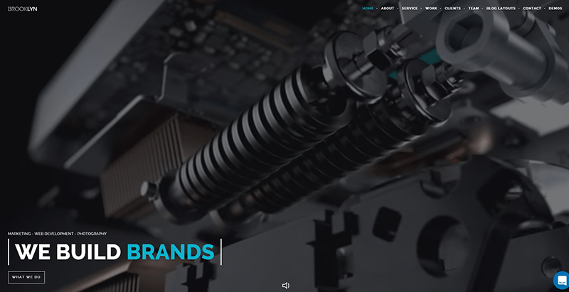 Brooklyn themes wordpress populaires creer site web entreprise ecommerce startup creative