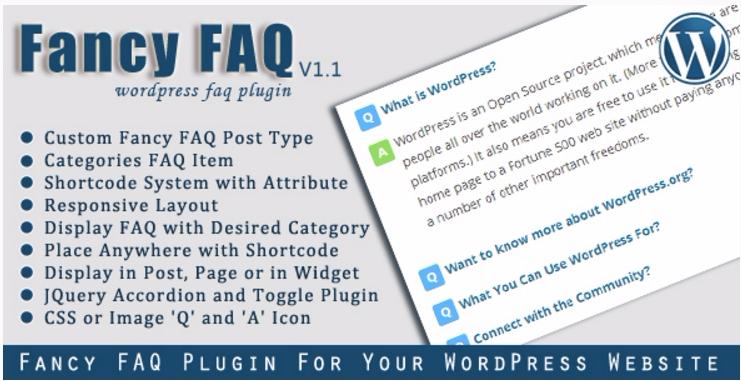 meilleurs plugins WordPress de FAQ - Fancy faq