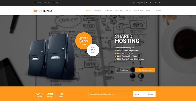 Hostlinea themes wordpress creer site internet entreprise hebergement web vps