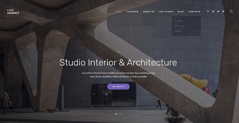 créer un site web d'entreprise de construction - Line agency