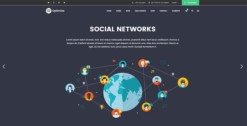 Optimize themes wordpress creer site web entreprise numerique digital creative hebergement referencement