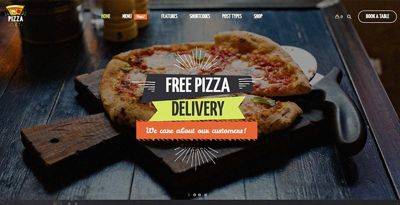 Pizza restaurant - meilleurs thèmes WordPress de pizzeria
