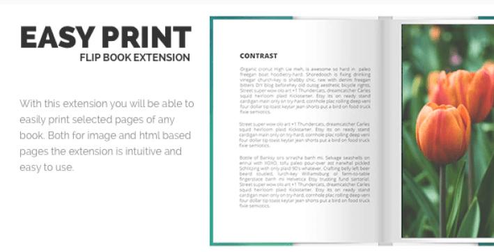 Print flipbook extension plugin wordpress