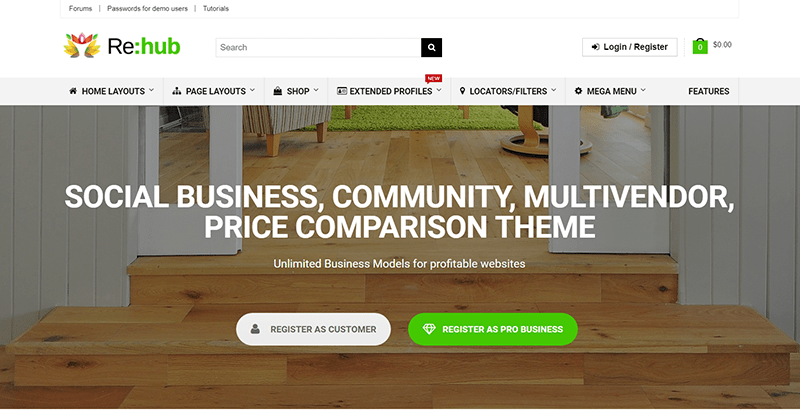 Rehub themes wordpress creer portail web annonces annuaire listing