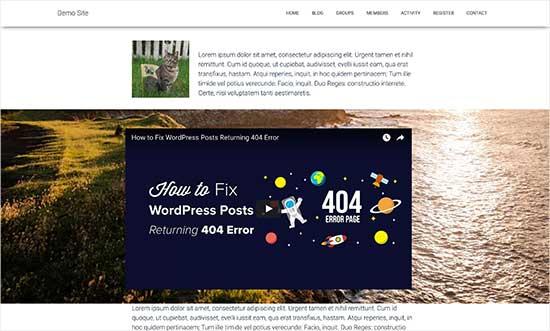 Exemple effet parallaxe wordpress