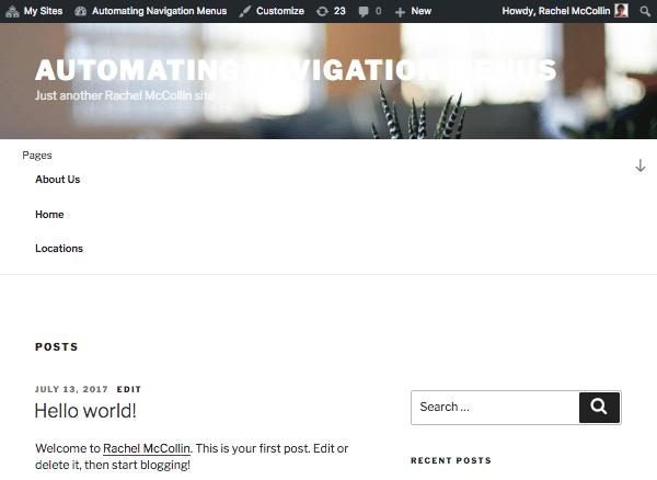 exemple site wordpress
