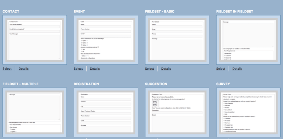 Page de formulaire de contact modèle wordpress