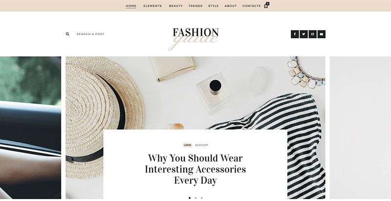 Fashion guide themes wordpress creer blog