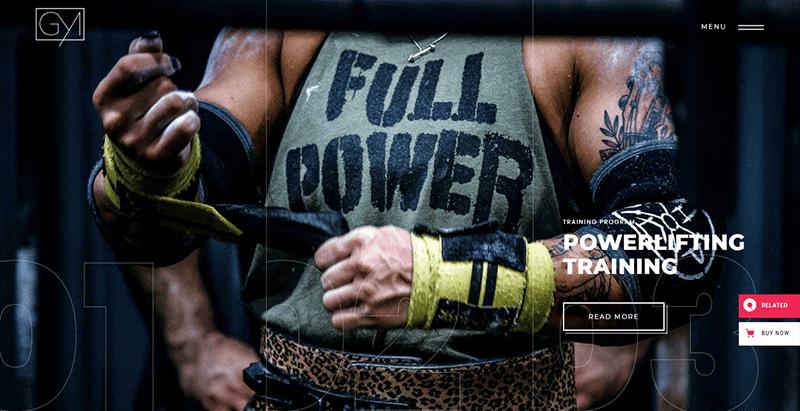 Powerlift theme wordpress creer site web club fitness gym