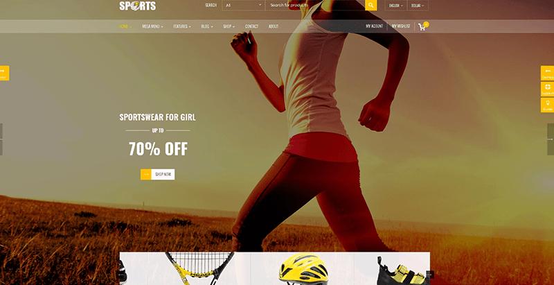 Sports themes wordpress creer boutique en ligne vetements site ecommerce