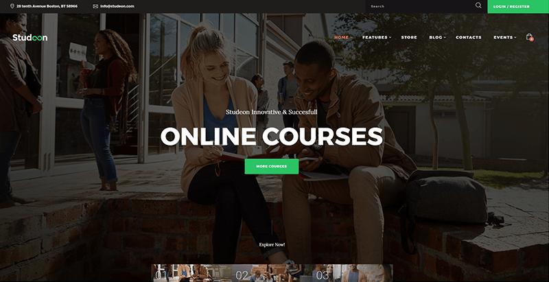 Studeon Themes Wordpress Creer Site Web College Lycee Universite