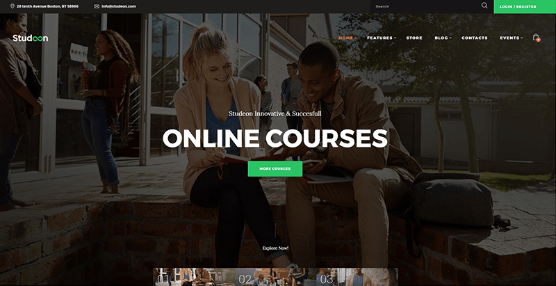 Studeon themes wordpress creer site web college lycee universite