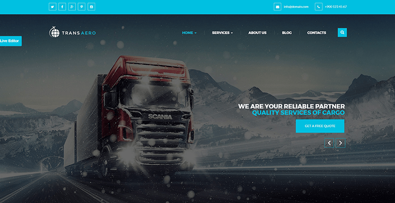 10 WordPress Themes to Create a Logistics Business Website | BlogPasCher
