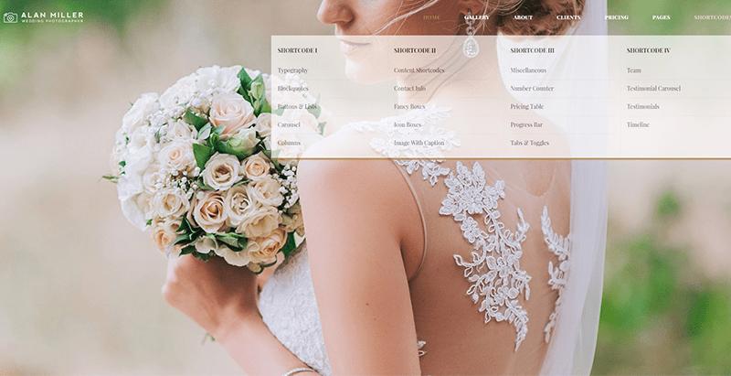 Vivagh themes wordpress creer site web mariage ceremonie nuptiale evenement