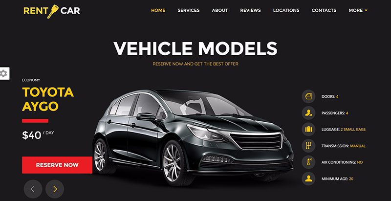 Wheelsberry Themes Wordpress Creer Site Web Concessionnaire Voitures Mecanicien Vente Achat Vehicules