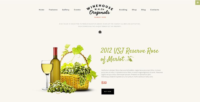 Wine house themes wordpress creer site web vente produits bio alimentation nutrition ferme