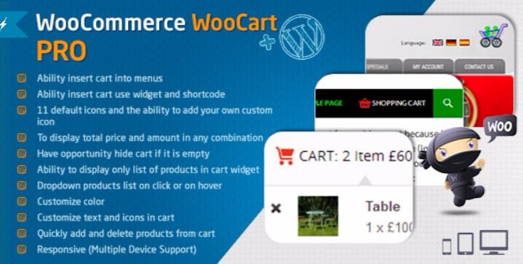 Woocommerce cart woocart pro