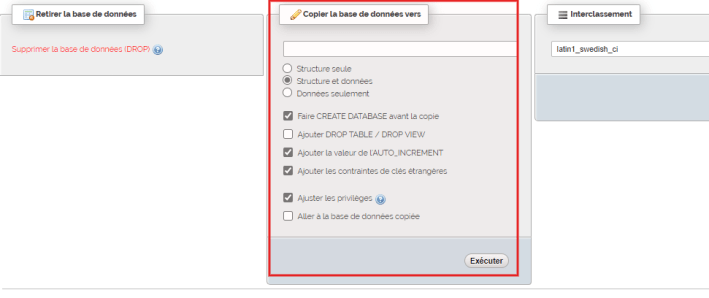 Comment dupliquer base de donnees wordpress phpmyadmin 3