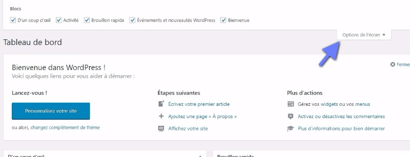 option de l'écran wordpress.jpeg