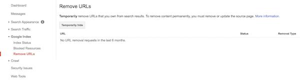 Supprimer des utls google chrome