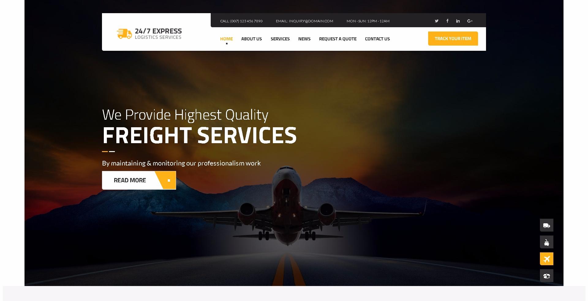 10 Thèmes WordPress Pour Créer Un Site Web D'entreprise De Logistique Et Transport