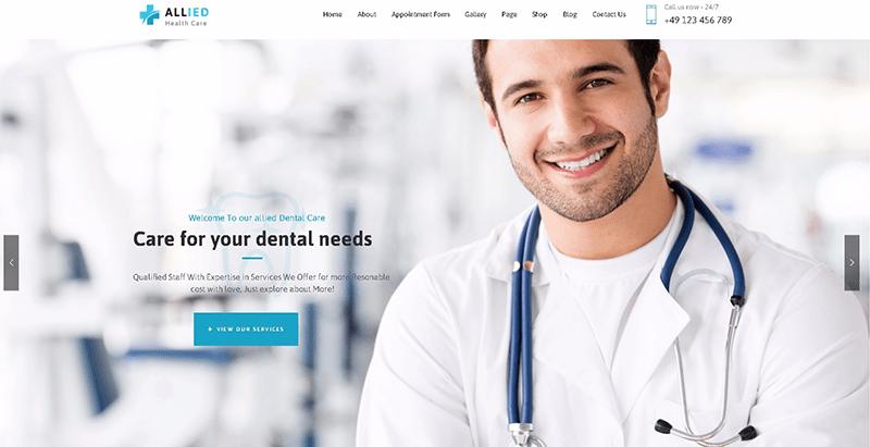 Alliedhealth - meilleurs thèmes WordPress de clinique
