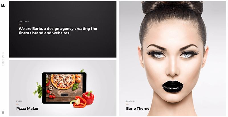 Bario themes wordpress создать сайт портфолио агентство модельный фотограф