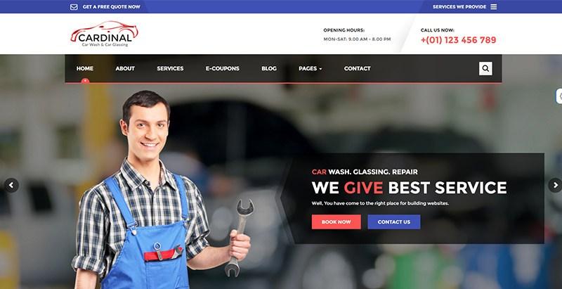 Cardinal themes wordpress creer site internet mecanicien