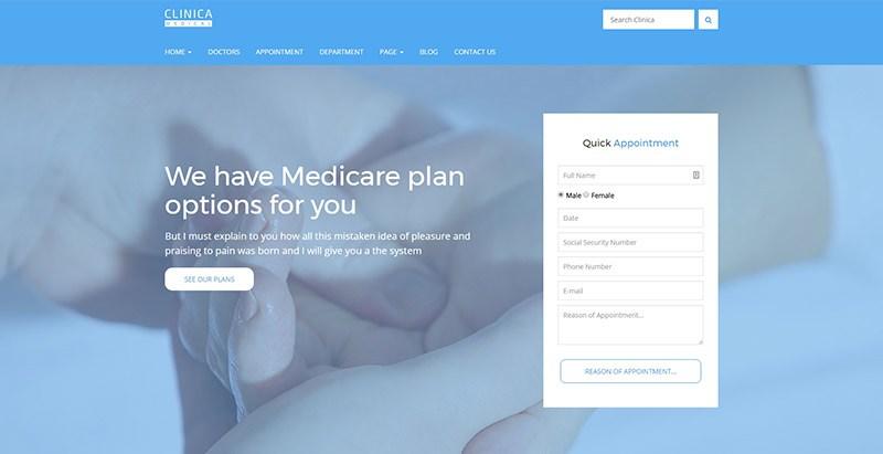 Clinica themes wordpress creation sites web hopital clinique dispensaire